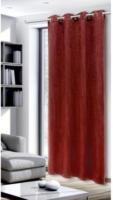 Ösen-Dekoschal Dimout uni Braga,rost-rot, ca. 135 x 245 cm