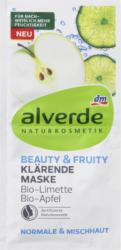 alverde NATURKOSMETIK Maske Beauty & Fruity Bio-Limette Bio-Apfel