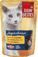 Dein Bestes Nassfutter für Katzen, Augenschmaus, zarte Stücke mit Hähnchen an Paprika-Sauce