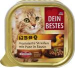 Dein Bestes BBQ Nassfutter für Katzen, marinierte Streifen mit Pute, in Sauce