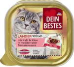 Dein Bestes Länderreise Italien Nassfutter für Katzen, mit Kalb & Käse in mediterraner Tomaten-Sauce