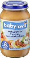 babylove Menü Makkaroni in Tomaten-Mozzarella-Soße ab 8. Monat