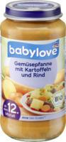 babylove Kindermenü Gemüsepfanne mit Kartoffeln und Rind ab 12. Monat