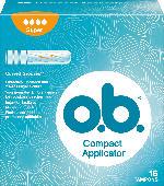 o.b. Tampons Compact Applikator super