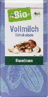 dmBio Vollmilch Schokolade Haselnuss