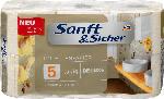 Sanft&Sicher Toilettenpapier Deluxe 5-lagig, 6x129 Bl