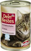 Dein Bestes Nassfutter für Katzen mit Kalb & Huhn, in Sauce