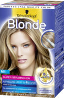 Blonde Coloration Super Strähnchen M1