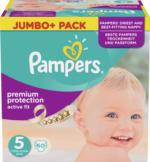 Pampers Windeln Active Fit Größe 5 Junior, 11-23 kg, Jumbo+ Pack
