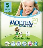 Moltex Windeln nature no.1 Größe 5 Junior, 11-25kg,