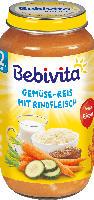 Bebivita Kindermenü Gemüse-Reis mit Rindfleisch ab 12. Monat