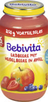 Bebivita Früchte Erdbeere mit Heidelbeere in Apfel ab 6. Monat