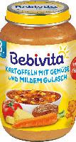 Bebivita Menü Kartoffeln mit Gemüse und mildem Gulasch ab 8. Monat