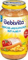 Bebivita Kindermenü Gemüse und Hühnchen mit Nudeln ab 12. Monat