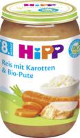 Hipp Menü Reis mit Karotten & Bio-Pute ab 8. Monat