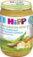Hipp Menü vegetarisch Käse-Makkaroni mit buntem Gemüse ab 8. Monat