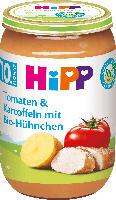 Hipp Menü Tomaten & Kartoffeln mit Bio-Hühnchen ab 10. Monat