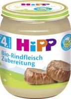 Hipp Zubereitung Bio-Rindfleisch nach dem 4. Monat