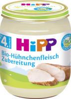 Hipp Zubereitung Bio-Hühnchenfleisch nach dem 4. Monat