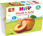 Hipp Früchtebecher Pfirsich in Apfel, 4x100g