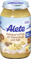 Alete Menü Rahmkartoffeln mit Blumenkohl und Kalb ab 10. Monat
