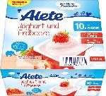 Alete Joghurtbecher Joghurt und Erdbeere ab 10. Monat, 4x100g