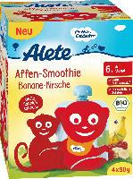 Alete Quetschbeutel Affen-Smoothie Banane-Kirsche ab 6. Monat, 4x90g