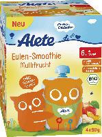 Alete Quetschbeutel Eulen-Smoothie Multifrucht ab 6. Monat, 4x90g