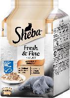 Sheba Nassfutter für Katzen, Fresh&Fine Feine Vielfalt (MSC), Multipack 6x50g