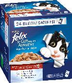 Felix Nassfutter für Katzen, So gut wie es aussieht, Fleisch, 24x100g