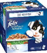 Felix Nassfutter für Katzen, So gut wie es aussieht, Fleisch/Fisch mit Gemüse, 24x100g