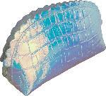 """Miomojo Schminktasche """"Meeresmädchen"""", holografisches Design"""