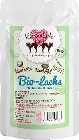 KatzenLiebe Nassfutter für Katzen, Bio Lachs mit Bio-Kartoffel, Bio-Karotte, Bio-Eierschalenpulver. Bio-Kokosflocken, 15x100g