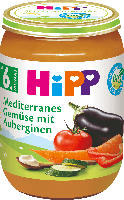 Hipp Gemüse Mediterranes Gemüse mit Auberginen ab 6. Monat