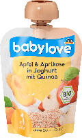 babylove Quetschbeutel Apfel-AprikoseJoghurt mit Quinoa  ab 1 Jahr