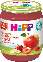 Hipp Früchte Erdbeere mit Himbeere in Apfel nach dem 4. Monat