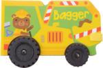 Spielbuch Bagger mit Reifen
