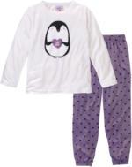 Mädchen Schlafanzug mit Pinguin-Motiv