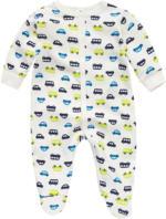 Newborn Schlafanzug mit Auto-Print