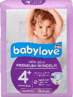 babylove Windeln Premium aktiv plus Größe 4+, maxiplus 9-20kg