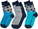 3 Paar Jungen Socken mit Fußball-Motiven