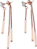 Damen Ohrringe mit roségoldfarbenen Sticks
