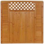 Zaunserie  Mainau, Grundelement, 180x180 cm, Douglasie, kirschbaumfarben lasiert