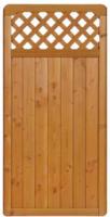 Zaunserie  Mainau, Grundelement, 90x180 cm, Douglasie, kirschbaumfarben lasiert