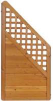 Zaunserie  Mainau, Anschluss rechts, 90x180/95 cm, Douglasie, kirschbaumfarben lasiert