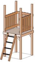 Turm ohne Dach Kon-Tikki, 100x250x160 cm, Douglasie, unbehandelt