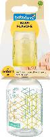 babylove Babyflasche mit anatomischen Trinksauger M, Größe 1, 0-6 Monate, 125ml, Modern Art