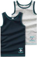 2 Jungen Unterhemden mit Fußball-Print