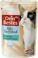 Dein Bestes Katerfrühstück Nassfutter für Katzen mit Hering in Kräuter-Sauce