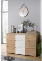 Kommode Image Honig-Eiche-Nachbildung/weiß ca. 120 x 80 x 40 cm